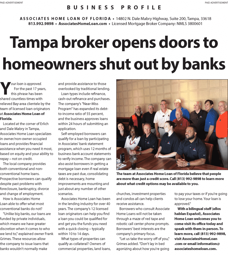Tampa broker opens doors to homeowners shut out by banks